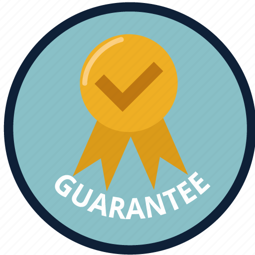 check, creative, guarantee, safe, satisfaction, store, warranty icon