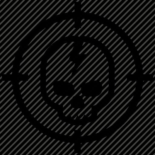 Cracked, dead, head, skeleton, battlefield, warzone icon - Download on Iconfinder