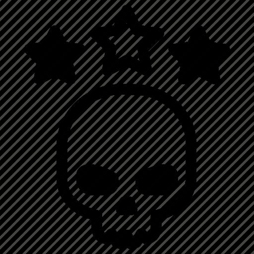 Dead, head, skull, stars, battlefield icon - Download on Iconfinder