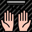 air, dru, dryer, hand, heat, hygiene icon
