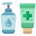 bottle, alcohol, sanitizer, product, hygienic, gel, container icon