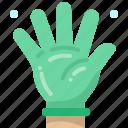 rubber, hand, latex, medical, hygiene, glove, sanitary icon