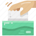 wipe, tissue, hand, paper, pull, box, appliance icon