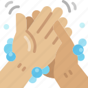 cleaning, washing, hand, wash, hygienic, hygiene, palm icon