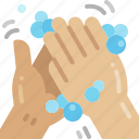 rub, cleaning, washing, hand, wash, hygienic, hygiene icon