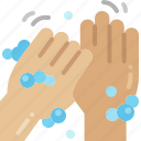 rub, cleaning, washing, hand, wash, thumb, hygiene icon