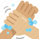 rub, cleaning, washing, wrist, step, hands icon