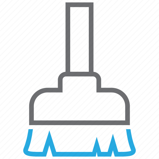broom, clean, cleaning, housework, wash, washing icon