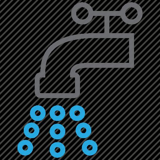 Faucet, plumbing, water, valve, tap, drop, toilet icon