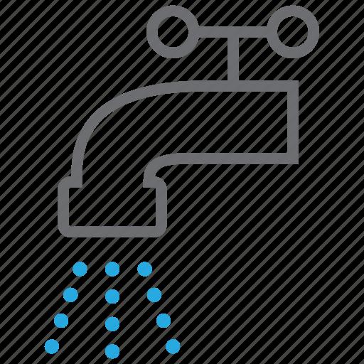drop, faucet, plumbing, tap, valve, water, wc icon
