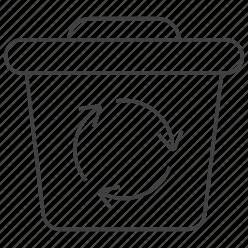Bin, trash, recycle, remove, garbage, delete icon