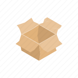 box, brown, cardboard, cartoon, garbage, paper, recycling icon