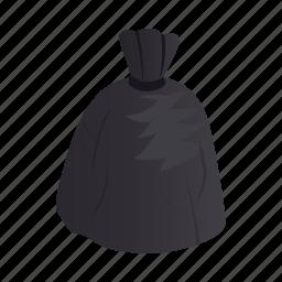 bag, dump, ecology, garbage, isometric, plastic, trash icon