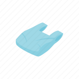 bag, environment, isometric, plastic, recycle, trash, used icon
