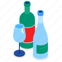 glass, recycling, bottle, waste sorting icon