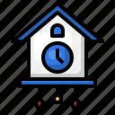 cuckoo, clock, wall, ornament, decoration, hour