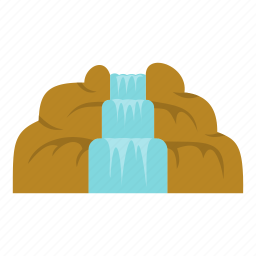 blue, landscape, mountain, natural, nature, summer, waterfall icon