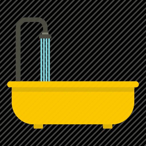 bath, bathroom, bathtub, clean, faucet, furniture, shower icon