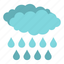 autumn, climate, cloud, drop, rain, storm, water icon