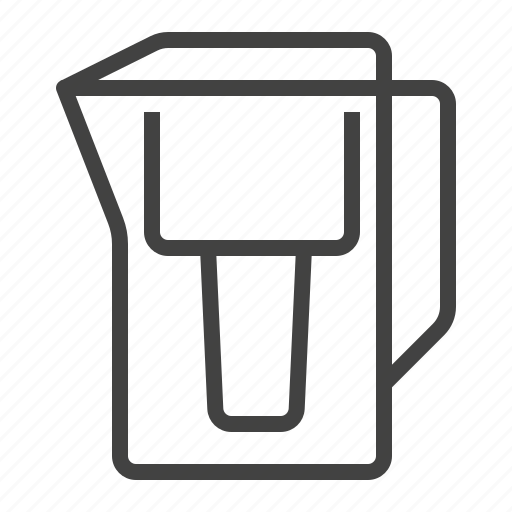 Filter, jug, purification, water icon - Download on Iconfinder
