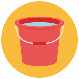bucket, collect, save, water icon