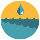drop, ocean, sea, water, waves icon