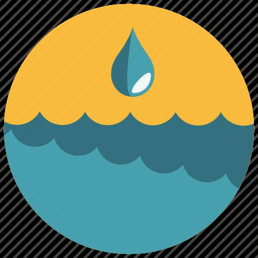 drop, ocean, sea, water, waves icon