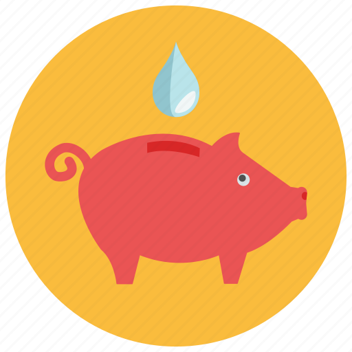 bank, drop, guardar, piggy, save, water icon