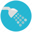 bathroom, drops, hygiene, shower, water icon