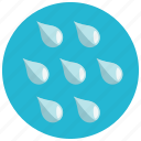 drops, rain, shower, water, weather icon