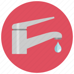 drop, kitchen, sink, tab, water icon