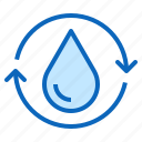 aqua, drop, purification, recycle, water icon