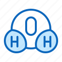 analysis, chemical, formula, h2o, water icon