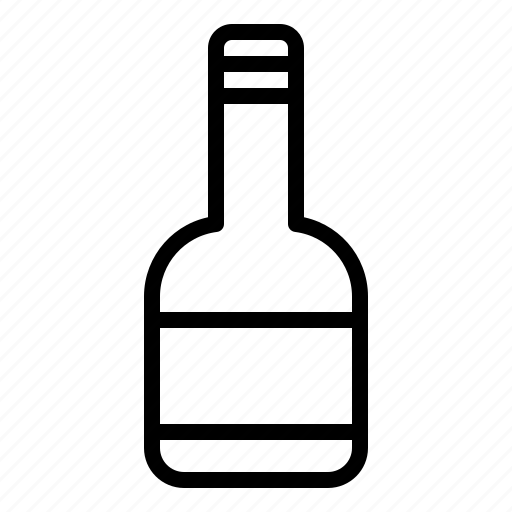 alcoholic drink, beverage, bottle, container, drink, water icon