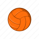 ball, cartoon, equipment, game, sign, sport, volleyball icon
