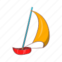 cartoon, sail, sailboat, ship, sign, yacht, yachting icon