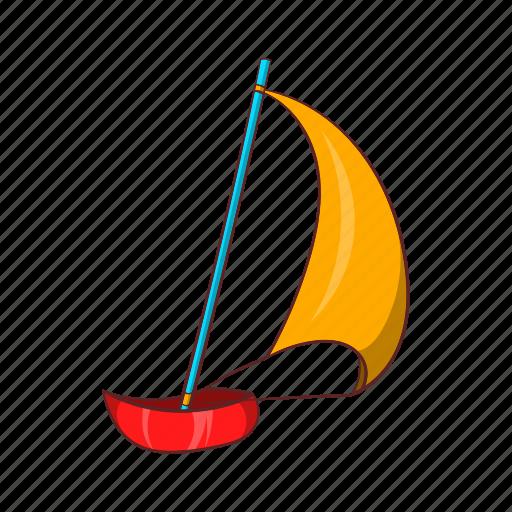 cartoon, sail, sailboat, ship, sign, yacht, yachting icon