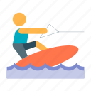 rider, wakeboard, wakeboarding, water sport icon