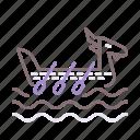 boat, dragon, oar, racing icon