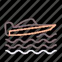 powerboat, racing, speedboat, water icon