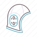 helmet, polo, protection, water icon