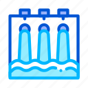 engineering, hydraulic, station, water icon