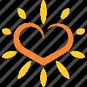 heart, hot, logo, love, solar, summer, sun icon