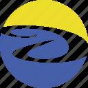 logo, water, summer, letter, tourism, sun, a