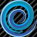 e, letter, sea, spiral, tsunami, water, wave