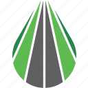 drive, highway, logo, path, road, travel