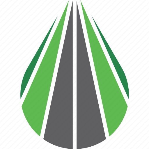 drive, highway, logo, path, road, travel icon