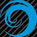 logo, surf, wave, vacation, water, circle