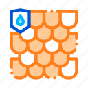 material, roof, waterproof icon icon