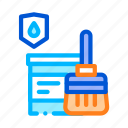 waterproof icon, paint, material
